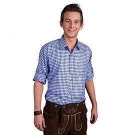 Geblokt Oktoberfest trachtenhemd shirt div kleuren