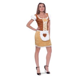 Bruine dirndl tiroler jurk