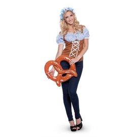 Blauw wit Oktoberfest dames shirt