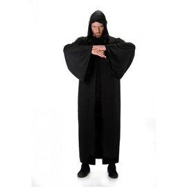 Zwart lang gewaad met hoody