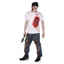Zombie T-shirt open ribbenkast
