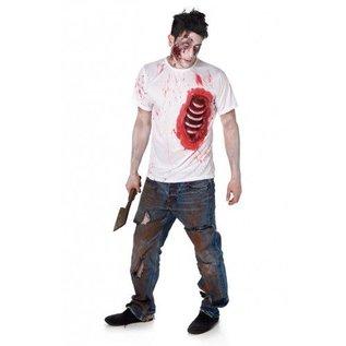 Zombie T-shirt open ribbenkast