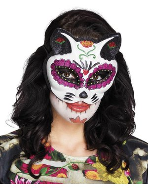 Day of the Dead Oogmasker El Gato