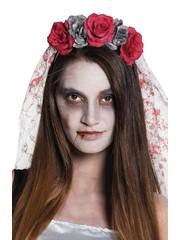 Tiara horror bruid met sluier