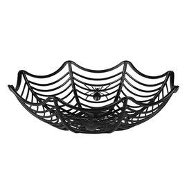 Halloweenmandje spinnenweg met spinnen