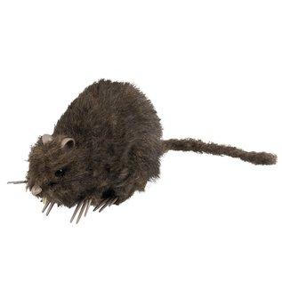 Harige decoratie rat Halloween 15x 8cm
