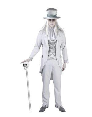 Ghost groom horror bruidegom kostuum