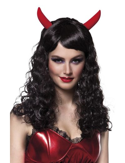Black anger duivel pruik