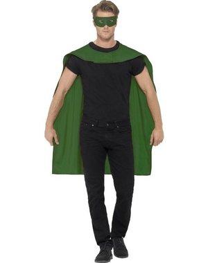 Groene cape met oogmasker Unisex