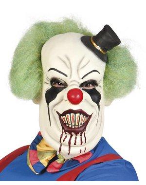 Deluxe Horror Clown Masker met haar