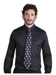 Zwarte stropdas met spinnen