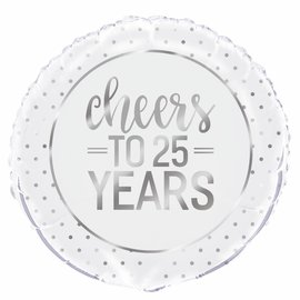 Cheers to 25 years helium folieballon