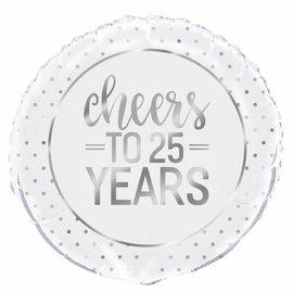 Cheers to 25 years helium folieballon
