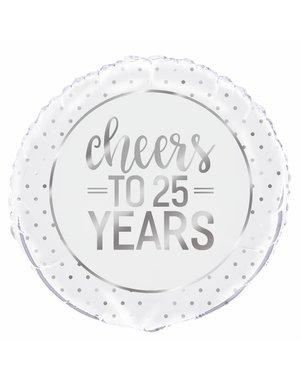 Folieballon Cheers to 25 years