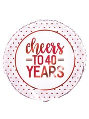 Folieballon Cheers to 40 years