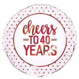 Cheers to 40 years helium folieballon