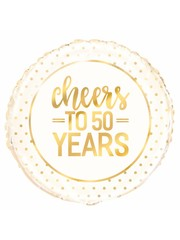 Folieballon Cheers to 50 years