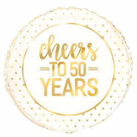 Cheers to 50 years helium folieballon