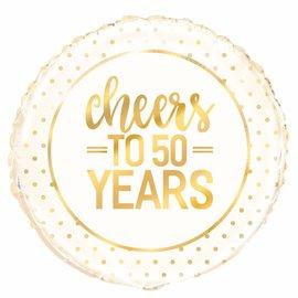 Cheers to 50 years helium folieballon
