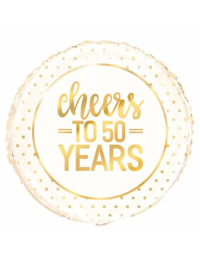 Folieballon Cheers to 50 years