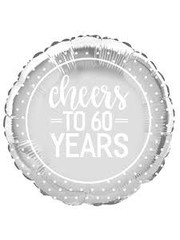 Folieballon Cheers to 60 years