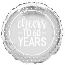 Cheers to 60 years helium folieballon