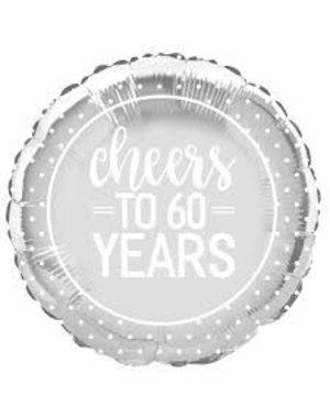Folieballon Cheers to 60 years