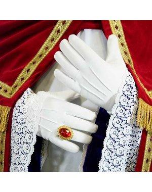 Luxe dikke witte handschoenen