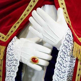 Luxe dikke witte Sint handschoenen