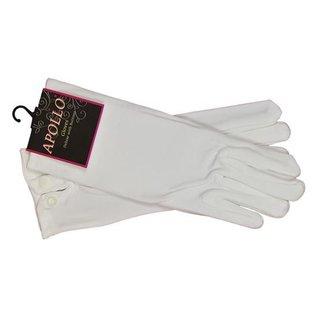 Handschoenen wit drukknoop luxe