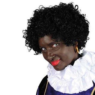 Zwarte Piet pruik Black Jack Kanekalon