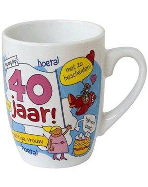 Hoera 40 jaar mok beker vrouw