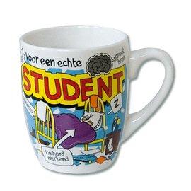 Cartoon mok voor een echte student