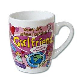 Cartoon mok allerliefste girlfriend