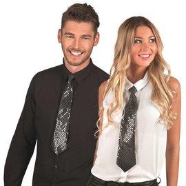 Zwarte stropdas met pailletten
