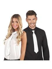 Witte stropdas met pailletten