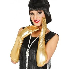 Gouden  glimmende handschoenen