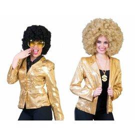 Gouden pailletten jasje colbert
