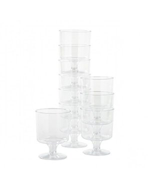 12x Plastic doorzichtige wijnglazen
