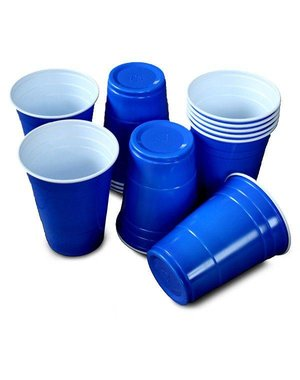 Beer Pong Party Cups Blauw - 25stk
