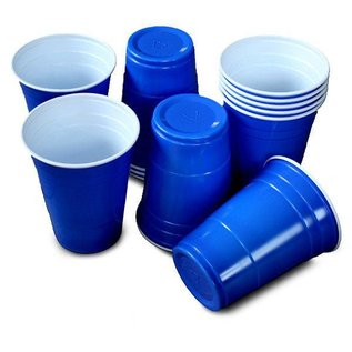 25x Blauwe Beer Pong Party Bekers