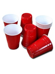 25x Rode Beer Pong Party Bekers