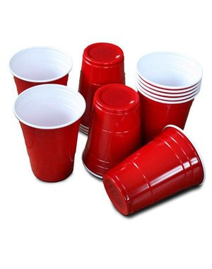 Beer Pong Party Cups Rood - 25stk