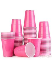 25x Roze Beer Pong Party Cups