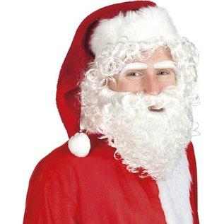 Kerstman set Pruik Baard Wenkbrauwen