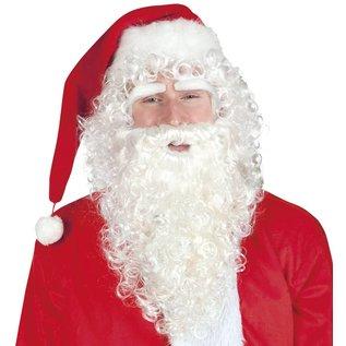 Luxe Kerstman pruik baard en wenkbrauwen