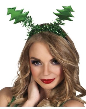 Diadeem met mini kerstboompjes