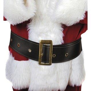 Zwarte kerstman riem met gesp