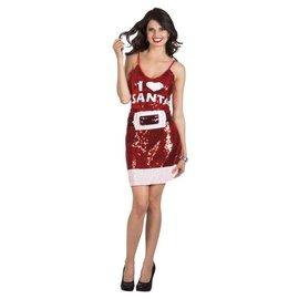 I love Santa sexy kerst jurk - M