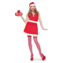 Kerstvrouw Santa jurkje & muts